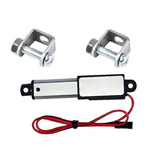 Actuador lineal 12V 30N velocidad 30mm de longitud 50 mm micro mini impermeable eléctrico con soportes de montaje para automóvil cardurableSeguro