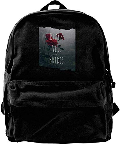 Canvas Rucksack, Black Veil Brides Travel Laptop Backpack Laptops Backpack College School Computer Bag for Women Men Fits 14 Inch Laptop and Notebook Casual Laptop Business Bag Black