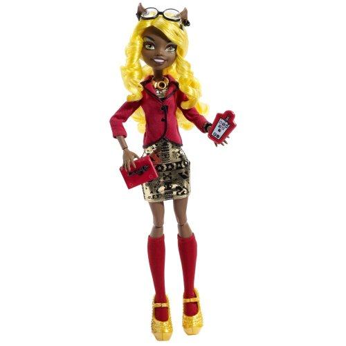 Mattel Blx17/Blx21 - Monster High Licht aus Grusel an Deluxe Clawdia Wolf, Puppe mit Zubehör