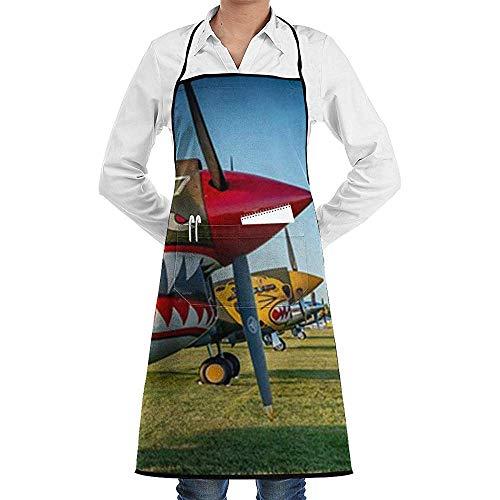Eliuji Fighter Militaire Vliegtuigen Luchtvaart Oorlog Koken Schort Verstelbare Koken Schort Keuken Schort met Zakken