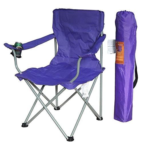 Lxynb Portable Campingstuhl,Lightweight Kompakt Falten Stühle,Angeln Stuhl Outdoor Leisure Stuhl-lila 54 * 54 * 92cm(21 * 21 * 36in)