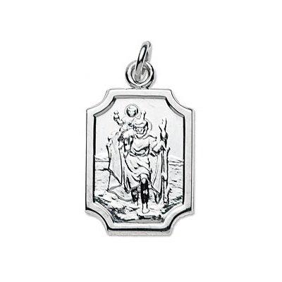 Pendentif Médaille de Saint-Christophe en Argent 925/1000