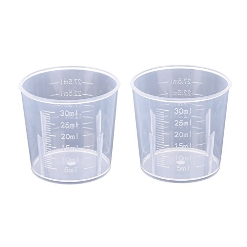 1/2Pcs Plastic Measuring Jug,Measuring Jugs,20/30/50/100/250/300/500/1000ML Plastic Measuring Cup Jug Pour Spout Surface Kitchen Tool Supplies,Kitchen Lab Container Gadget (1000ML with Handle,Clear)