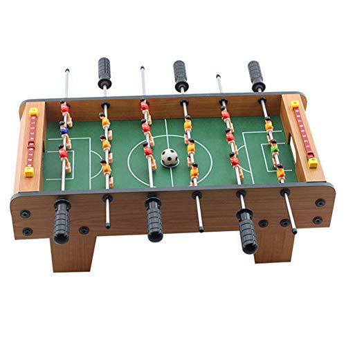 Table Soccer Houten Voetbal Tafel Fun Football Toy Set 19 '' Countertop 6 Joysticks Houten Frame Gebruikt voor Family Entertainment, Ouder-kind interactie, lichamelijke en geestelijke oefening