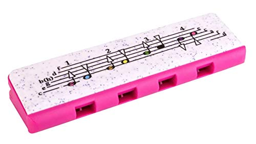 Hohner-Kinder-Speedy-Armonica - Mundharmonika mit 8Stimmlagen - Rot/Pink