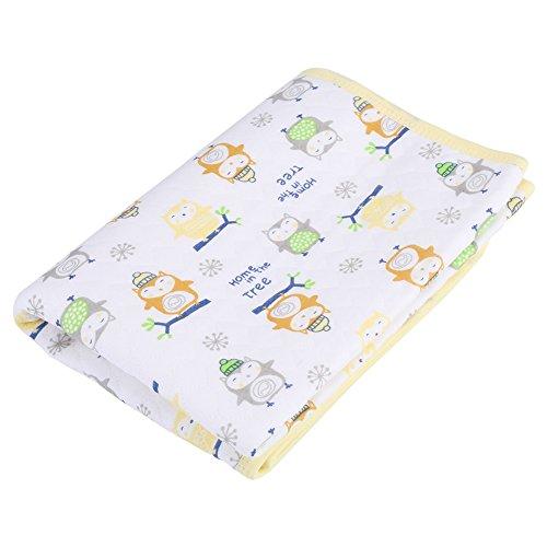 Waterdicht luierkussen, herbruikbare draagbare babyverschoontafel Babymatras Wasbaar babybed Luiermatras 50x70cm(Geel)