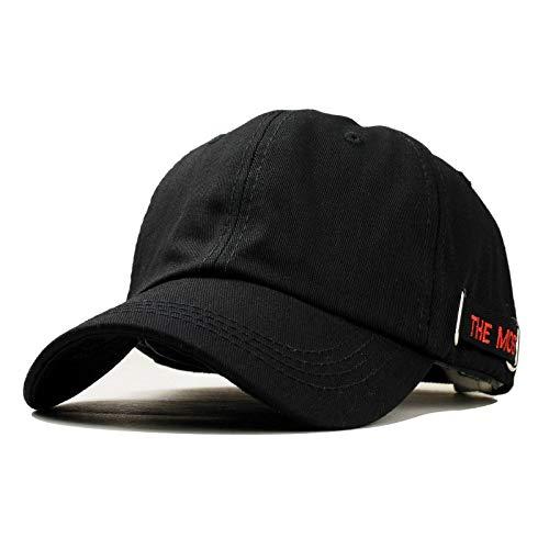 sombreroGorra de Beisbol Verano Hombres Sombrero Letra Bordado algodón Negro Blanco Hip Hop Gorras de béisbol Ajustable Gorra Snapback para Mujeres papá Sombreros Ajustable blackredcap