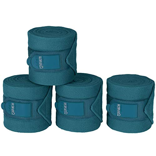 ESKADRON Bandagen FLEECE (Classic Sports HW19), tealblue, Vollblut/Warmblut