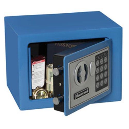 Honeywell Safes & Door Locks 5005B HONEYWELL-5005B Steel Security Safe with Digital Lock, 0.17-Cubic Feet, Blue, 0.17 Cubic Feet