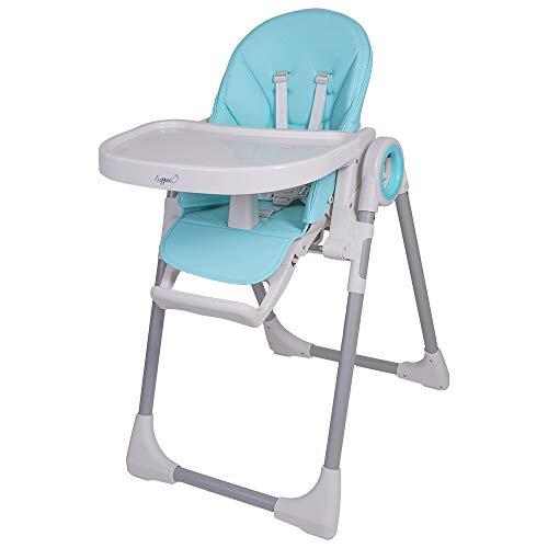 Seggiolone Fency per bambini da 6 a 36 mesi, regolabile in altezza su 7 livelli, carico massimo fino a 20 kg, seggiolone universale 3 in 1 (blu)