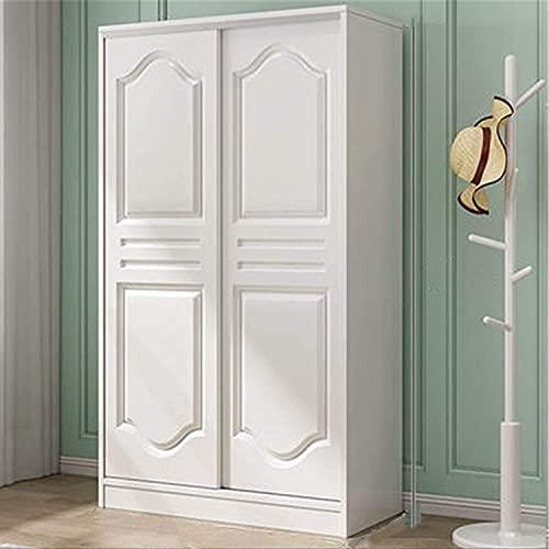 COLiJOL Kläder garderob hem sovrum förvaring skåp skjutdörr ekonomisk lägenhet garderob (färg: Vit, storlek: 200 x 50 x 120 cm), vit, 200 x 50 x 120 cm