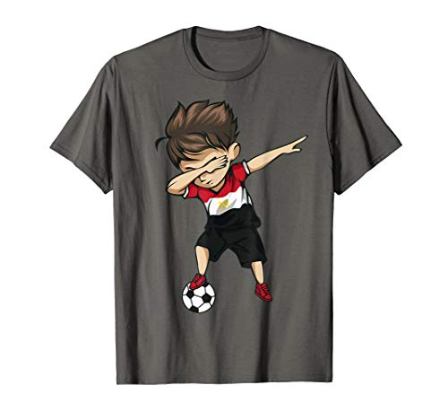 Dabbing Soccer Boy Egypt Jersey Shirt - Egyptian Football