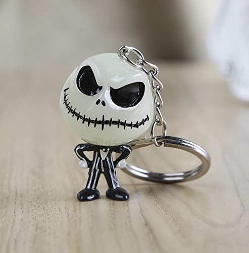 TSky The Nightmare Before Christmas Jack Skellington Luminous Keychain Light in The Dark