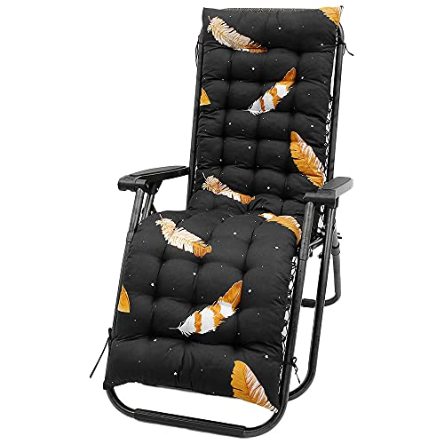 Sun Lounger Cushions Thick Replacement Garden Recliner Non-slip Lounger Cushion High-Backed Cushion for Travel Holiday Garden Patio Indoor Outdoor, No Chairs (Style H-02)