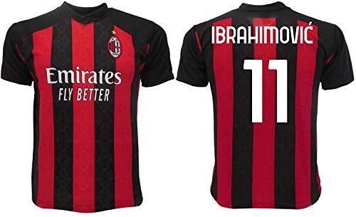 Ibrahimovic Milan 2021 Offizielles Trikot 2020-2021 für Erwachsene, Kinder, Ibra Zlatan 21 (XL Erwachsene)