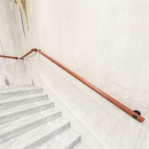 Massivholztreppenhandlauf (kompletter Bausatz), Holztreppen Geländer für Treppen Bars Villen Bauernhaus, Verfügbar in Einer Vielzahl von Größen