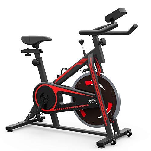 HSJSY Bicicleta EstáTica Indoor - Bicicleta De Spinning - Ejercicio Bicicleta, Freno Silencioso, Magnetoresistance Continuo, Asiento Ajustable, Volante Sólido