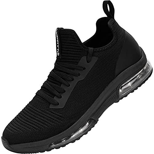 LARNMERN PLUS Scarpe da Ginnastica Donna Traspirante Leggero Antiscivolo Air Sportive Sneakers Ginnastica Running Outdoor Fitness Atletica Camminare Scarpe da Corsa Cómodo(Nero,36)