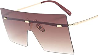 Fashion Siamese Sunglasses Frame HD Lens for Women,Brown