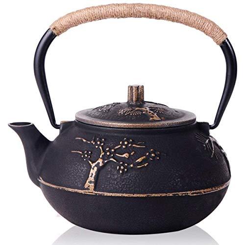 Iycorish Japanischer Gusseisen Teekanne Wasserkocher Mit Edelstahl Infuser/Sieb, Pflaumenblüte 30 Unze (900 Ml)