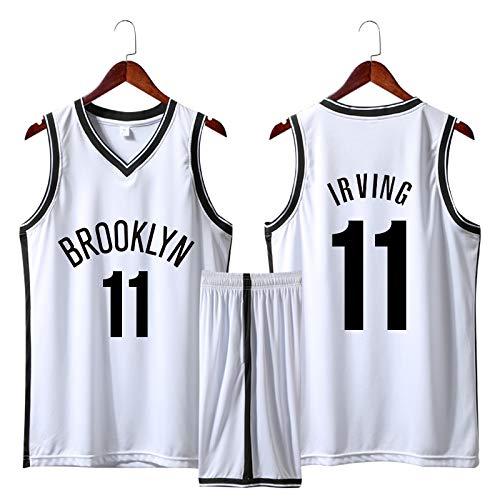 Z/A Brooklyn Nets Kyrie Irving # 11 Stickte Jersey Anzug High-End-Stickerei Handwerk Basketball Einheitliche Benutzerdefinierte DIY Jersey,Weiß,S