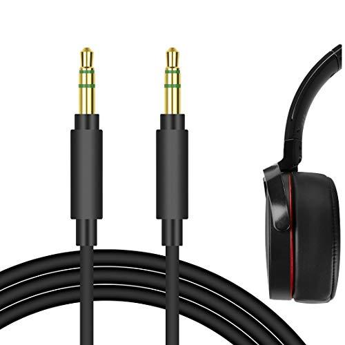 Câble audio Geekria Apollo Upgrade pour Sony MDR-1000X, MDR-100AAP, MDR-100ABN, MDR-XB950BT, XB650BT, XB750BT, MDR-1A et plus - câble de rechange de 1,5m pour casque audio 3,5mm, anti-nœuds