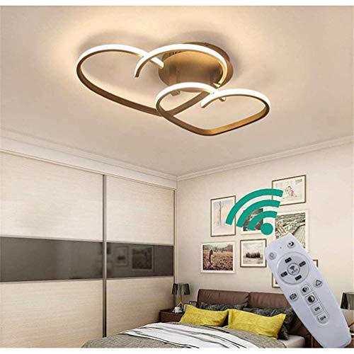 SONGYL Moderne LED dimmbare Deckenleuchte mit Fernbedienung Kücheninsel Lampe Esstisch Kreativ für Wohnzimmer Schlafzimmer (L55 * W45 * H8cm)