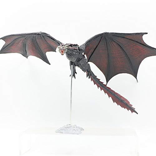 MIRECLE Anime Juego de Thrones McFarlane Dragon Madre Dragón Negro Decoración Movible Regalo 22 cm