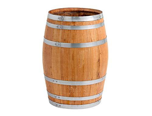 150 Liter Holzfass, neues Fass, Weinfass aus Kastanienholz geöffnet als Regenfass, Regentonne (Fass geölt mit Deckel)