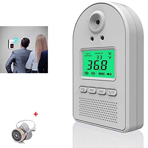 CCCYT Kontaktlose Infrarot-Temperaturpistole, 0,5S Smart Voice-Temperaturtester Schneller berührungsloser Test für die Fabrik des Unternehmens Kostenlose 1 Stück Gasmaske