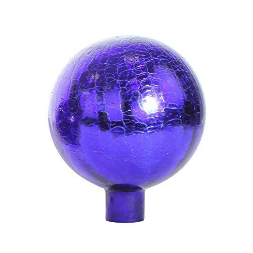 1PLUS Rosenkugeln Dekokugeln mit Unterschiedlichen Farben, Gartenkugeln für Den Garten als Schicke Gartendekoration - Deko Kugeln Glaskugeln (10 cm, Blau Kristall)