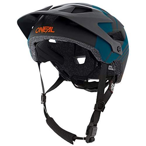 O\'NEAL | Mountainbike-Helm | Enduro All-Mountain | Belüftungsöffnungen für Kühlung, Polster waschbar, Sicherheitsnorm EN1078 | Helmet Defender Nova | Erwachsene | Petrol Orange | Größe XS M