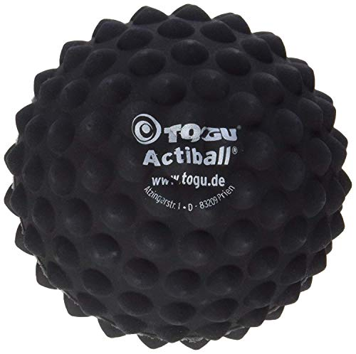 Togu Actiball Faszienball Massageball, Schwarz, 9 cm