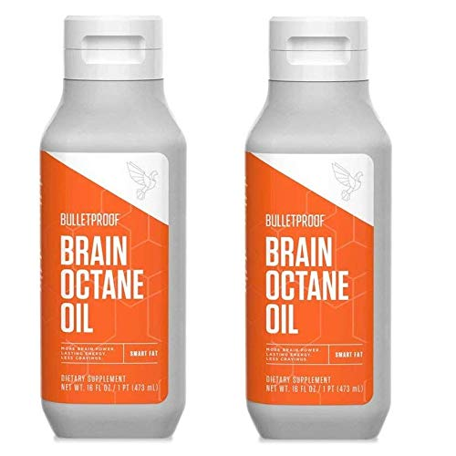 Bulletproof Brain Octane Oil Bundle, 100% C8 MCT Oil, Fat Burning, Brain Boosting, Keto-Friendly, Paleo, Vegan, Organic Non-GMO, Rainforest-Alliance Certified, (2 Pack 16oz)