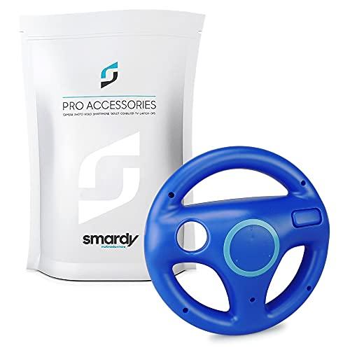 smardy Volante Racing   Corse blu compatibile con Nintendo Wii e Wii U Remote per Giochi Mario Kart