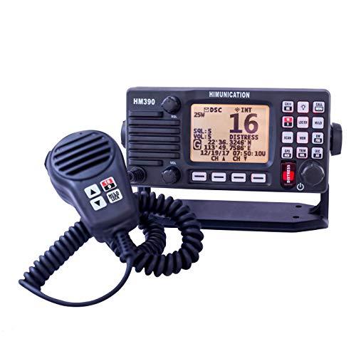 Himunication Radio VHF Marina fissa con Dsc GPS Nmea0183, grigio scuro