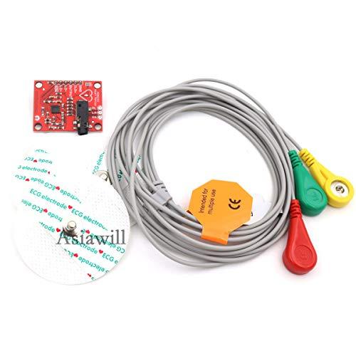 Asiawill 3,3V AD8232Monitor módulo de Sensor para Arduino (Funciona con Las Juntas de Oficiales Arduino)