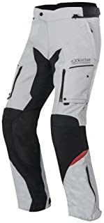 Alpinestars Valparaiso 2DRYSTAR Pantalón de Motorista, color gris claro de Negro, grà ¶ ße L