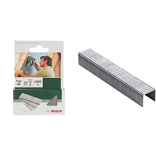 Bosch 2 609 255 813 Clavo tipo 48 (pack de 1000) + Professional 2 609 255 821 Grapa tipo 53 (pack de 1000)