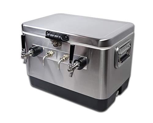 COLDBREAK Jockey Box, 2 Taps 54 quart Cooler
