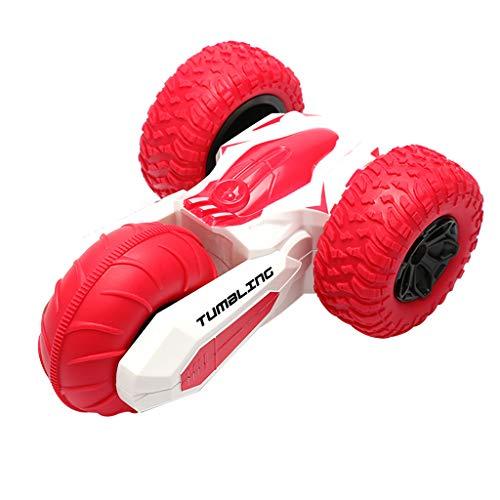 SUPPION Boys 2.4G Intelligent Watch Control 360° Rotation Bounce Stunt Off Road Car Kids Toys Three-Wheeled Stunt Toy Car