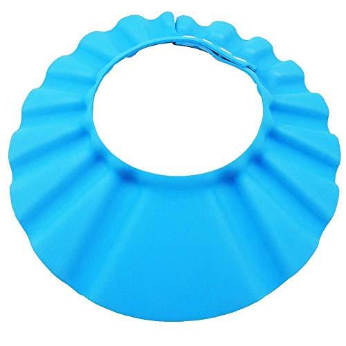 Baby Badekappe Baby Shampoo Cap Augenschutz Dusche Badeschutz weicher Kappen Hut Abdeckung einstellbar für Baby Kinder, 1 Pack, Blau