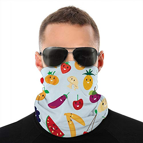 vbndfghjd 323 microfibre cou écharpe guêtre couvre-chef bouclier mignon fruits et légumes dessin animé demi-couverture