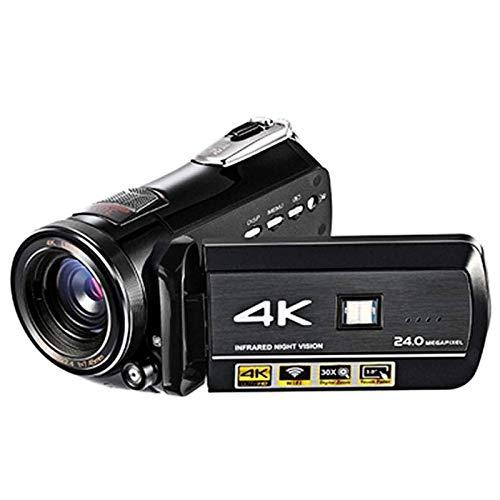 4K Wifi Full Spectrum Videocamere, fotocamera ultra HD a raggi infrarossi di visione notturna con 60fps 24MP 30X Zoom digitale, questo è il miglior regalo per riunioni, matrimoni, viaggi, vacanze