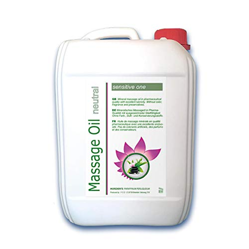 Massageöl neutral (5 Liter) Basisöl für Spa und Wellness, Pharmaqualität (Ph.Eur. / DAB)