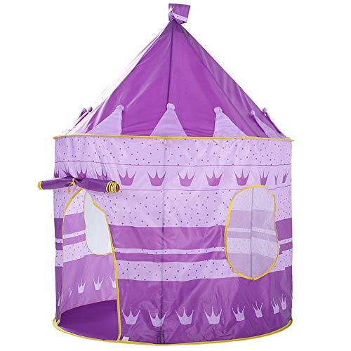 Meteor fire Kid's Play Tent Tent Princess Tienda, Niños Princess Castle Camping Tienda Grande Playhouse Teeepee con portátil Carrera para niños Juegos para niños en Interiores y Exteriores