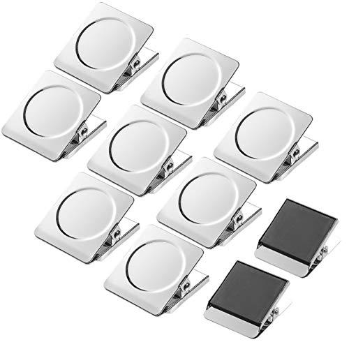 Andexi マグネットクリップ 冷蔵庫マグネット ホワイトボード用 10個セット ステンレス 磁石クリップ オフィス用品 学校用品 フッククリップ 地図 掲示板に適用