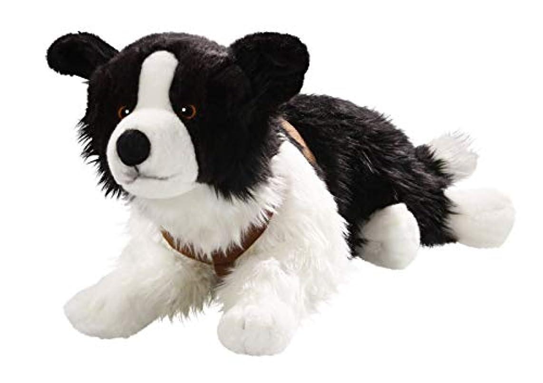 Border Collie Lying, 24 inches, 55cm, Plush Toy, Soft Toy, Stuffed Animal 3230