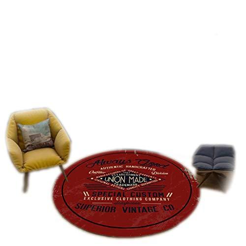HLD Alfombra redonda giratoria para colgar en la sala de estar, dormitorio, estudio, guardarropa, silla, alfombra, oficina, esterilla de yoga, alfombra para niños, alfombra para el suelo de gimnasio