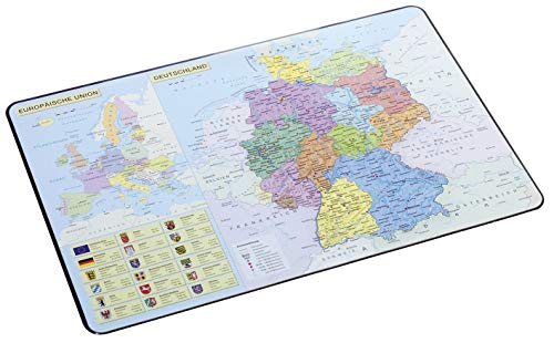 Pagna schrijfonderlegger Duitslandkaart 540 x 360 mm, gelamineerd motief